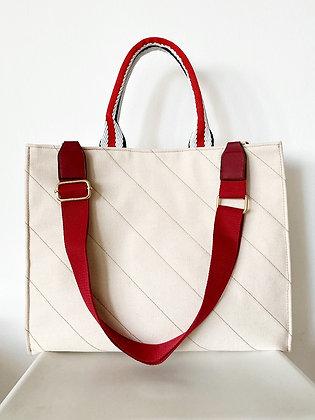 BRADY Biege Canvas Tote Bag S/L