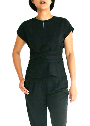 EMMA Wrap Top - Black