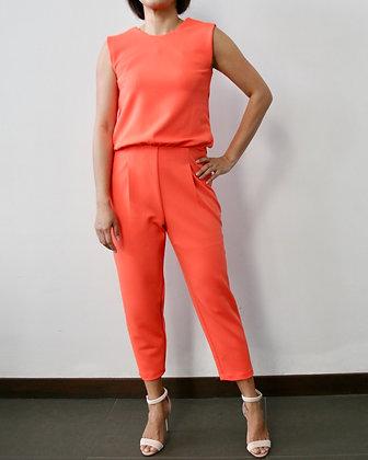 WHIMSY Knit Low Back Jumpsuit - Orange
