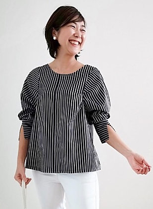 RADIANT Black Stripe Top