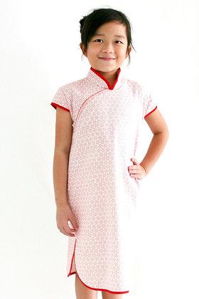 PIPER Cheongsam Dress - Red