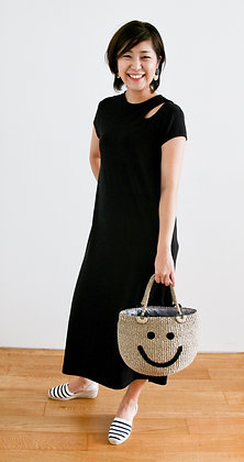 VIGOUR Black Knit Dress