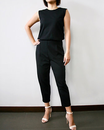 WHIMSY Knit Low Back Jumpsuit - Black