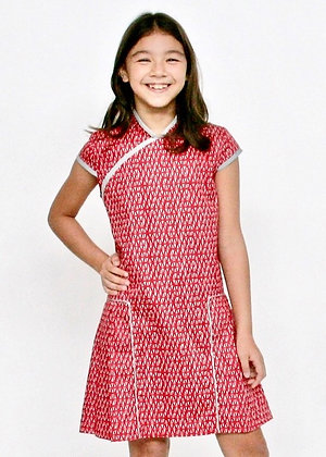 MERRY Cheongsam Dress - Red