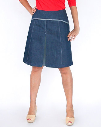 DANDY Short A-Line Skirt - Denim