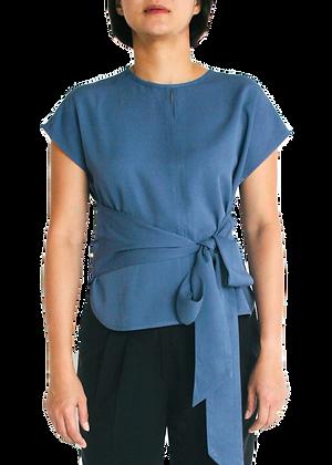 EMMA Wrap Top - Teal Blue