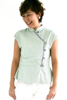 JADE Cheongsam Peplum Top - Green