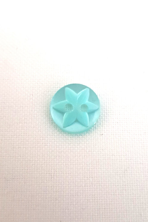 Light Green Two Hole Button with Desing in Centre