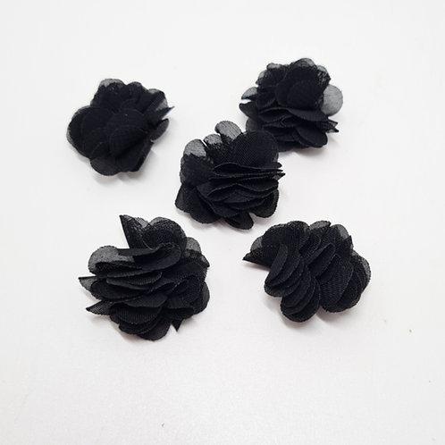 Black Decorative Flower 30mm
