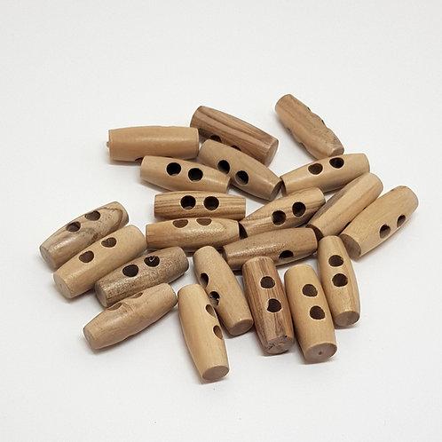 Wooden Toggle Buttons (Pack of 5)