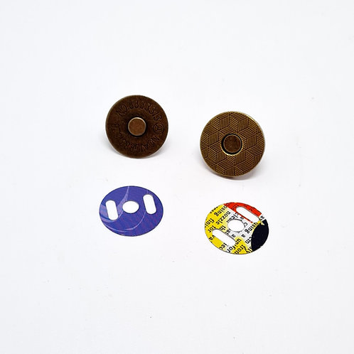 18mm Vintage Brass Magnetic Fasteners