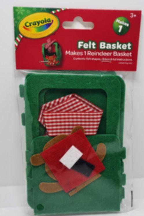 Reindeer Felt Basket Craft Set