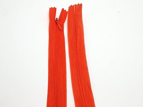Orange Invisible Zip