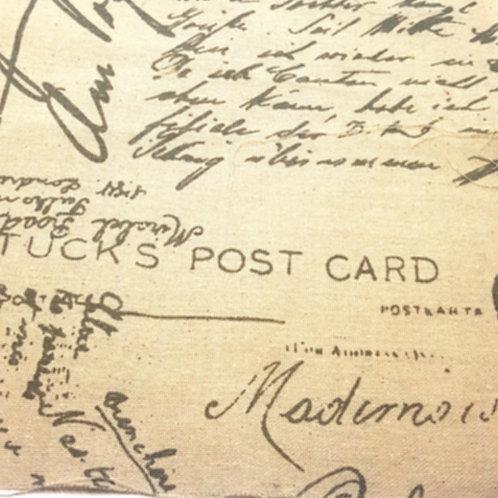 Tucks Post Card Linen Print