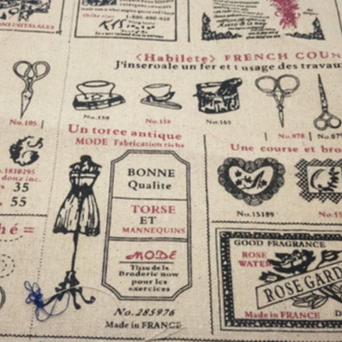 French Tailor Linen Print A