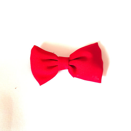 Red Clip On Bow