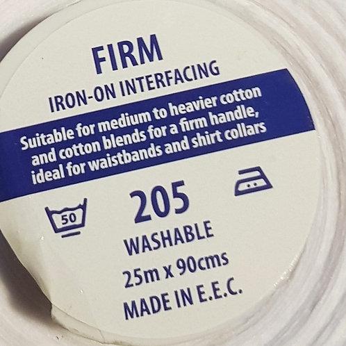 FIRM IRON ON INTERFACING - 205