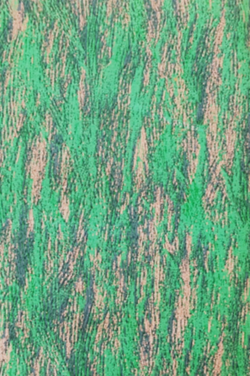 Green Cotton With Silver Fleck