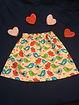 Bird Print Cotton Childs Skirt