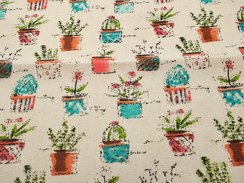Cacti Linen Print Fat Quarter