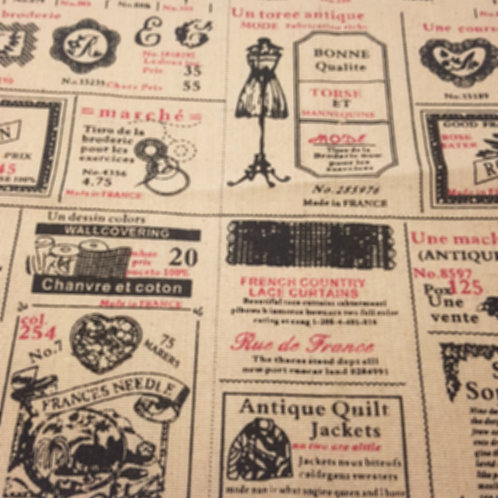 French Tailor Linen Print B