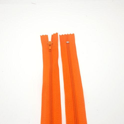 Closed End Orange Zip