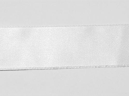White Double Satin 25mm Ribbon