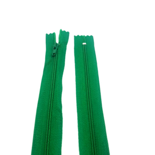 "8""Emerald Green Closed End Zip"
