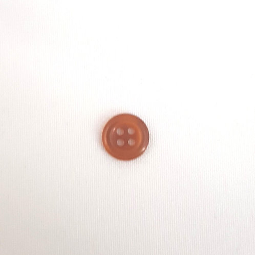 Brown Four Hole Button with Raised Edge