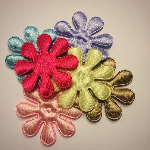 Satin Fabric Flower Appliques