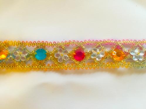 Multi-Coloured Gem Trim