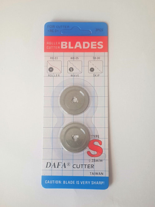 Rotary Cutting Replacement Blades - 28mm