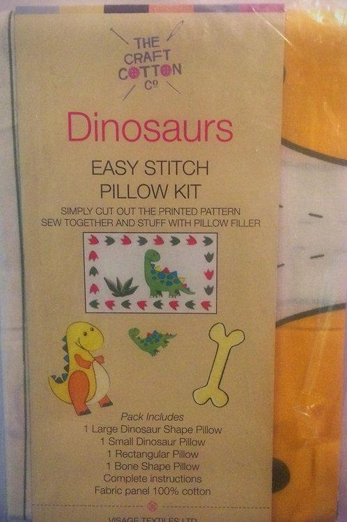 Dinosaurs Easy Stitch Pillow Kit