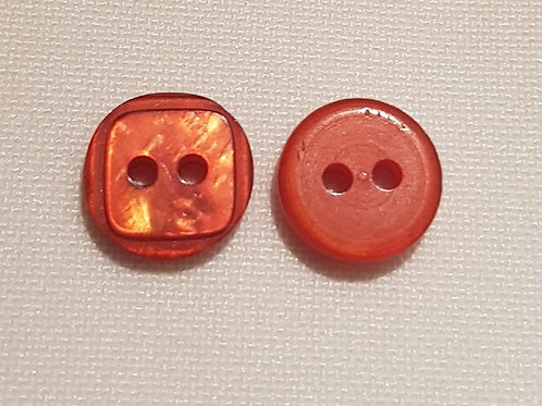 Orange Two Hole Button (10 pack)