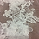 Thumbnail: White Floral Beaded Lace