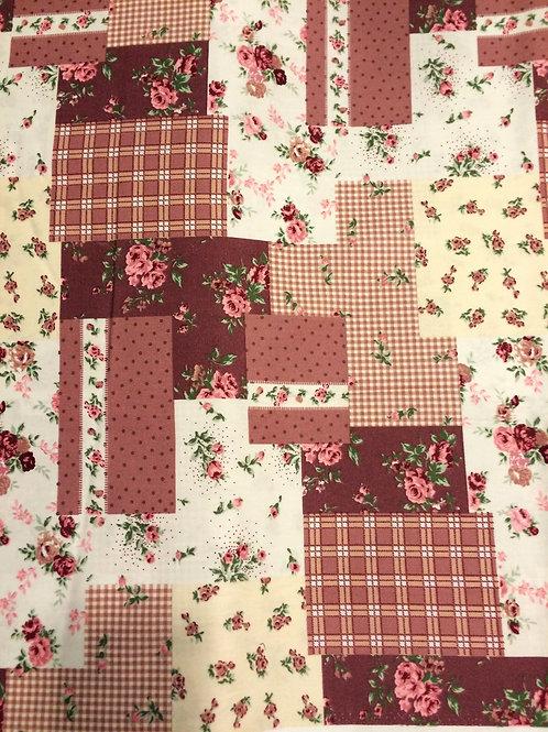 Patchwork Print Cotton Fabric