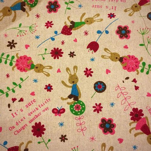 Bunny Linen Print