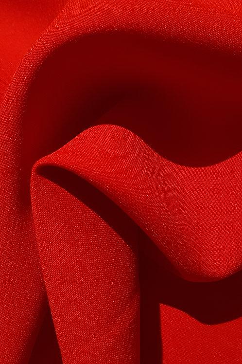 Red Bi-Stretch Cotton