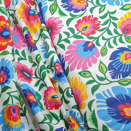 Vibrant Floral 100% Cotton Print