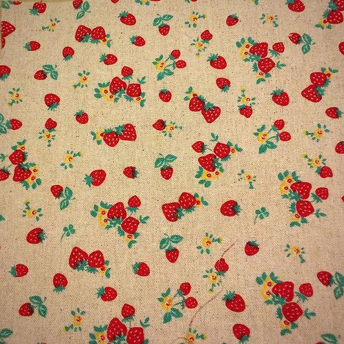 Red Strawberry Linen Print