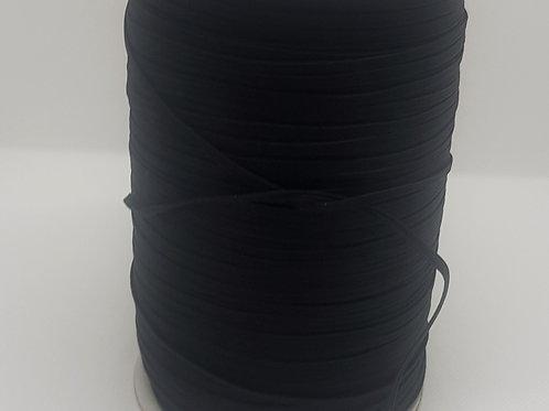3mm Black Flat Elastic