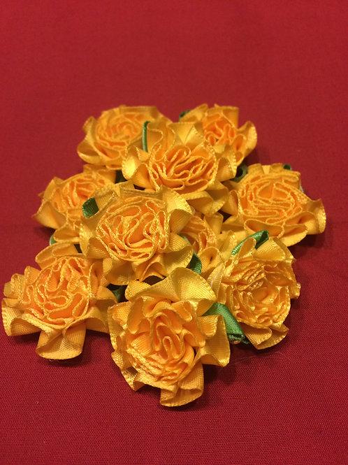 Yellow Fabric Flowers
