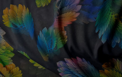 Black Floral Chiffon