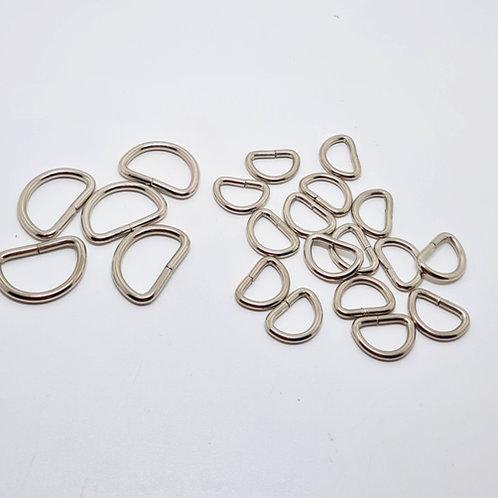 Metal D-Ring Nikel