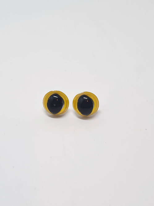 Yellow Safety Cat's Eyes 14mm
