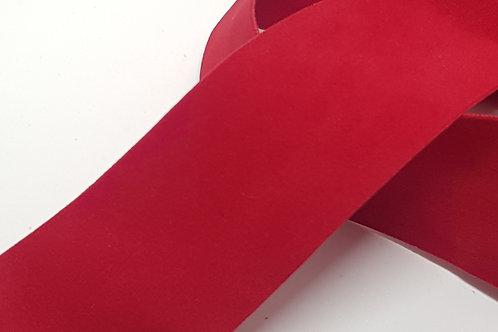 Red Double Sided Velvet Ribbon