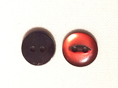 Brown Two Hole Button