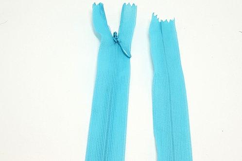 Aqua Blue Invisible Zip