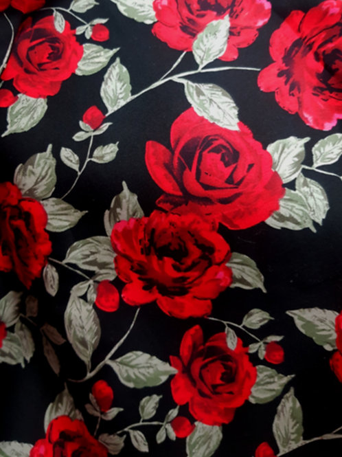 100% Red Rose Printed Cotton