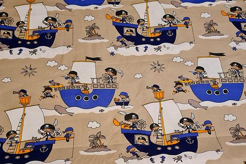 100% Cotton Pirate Print